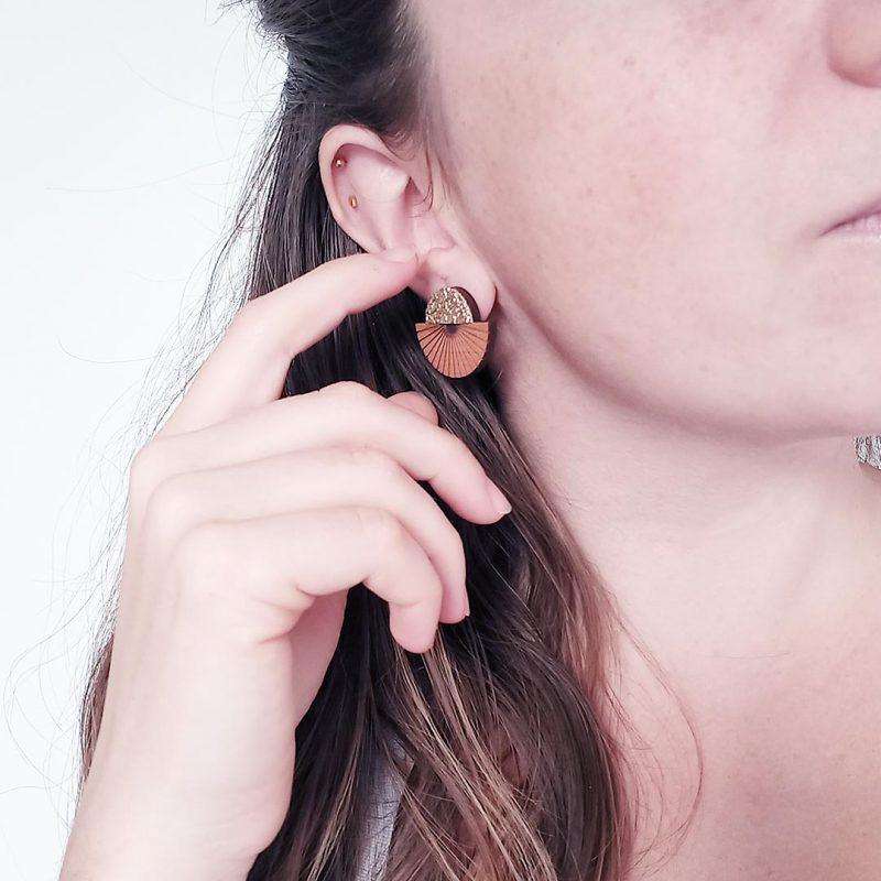 boucles d'oreilles en bois MARTHO bijoux en bois ECLYPS