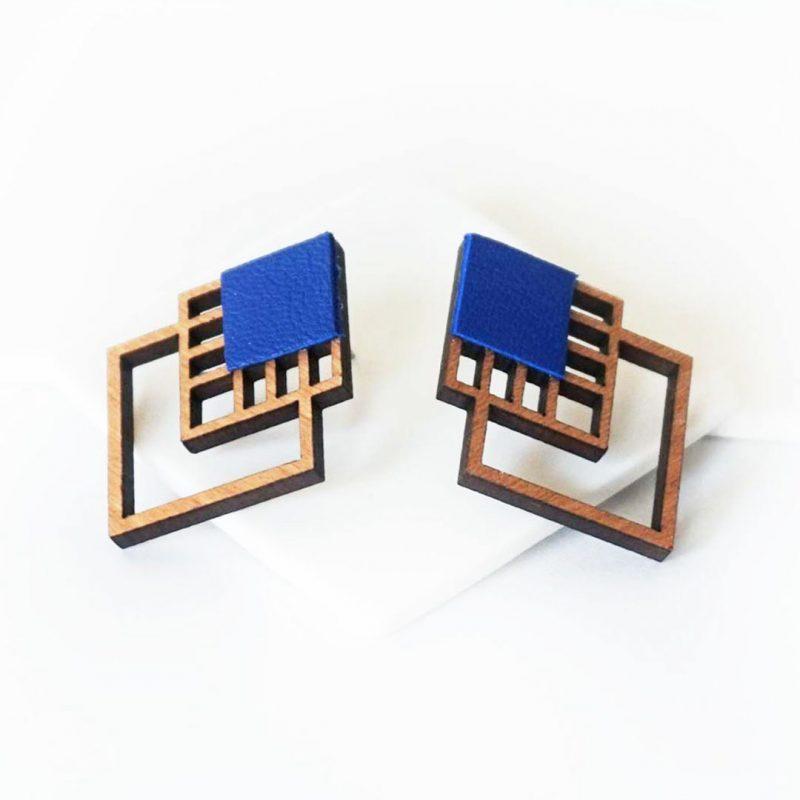 bijoux en bois découpé et gravé au laser MARTHO RUBIKS miniature