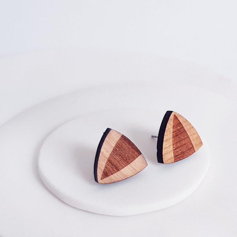boucles d'oreilles en bois MARTHO puce INTEMPORELLE bijoux découpe laser