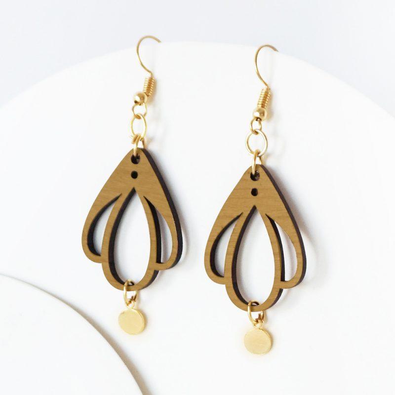 boucles d'oreilles en bois MARTHO CHAMPETRE bijoux en bois