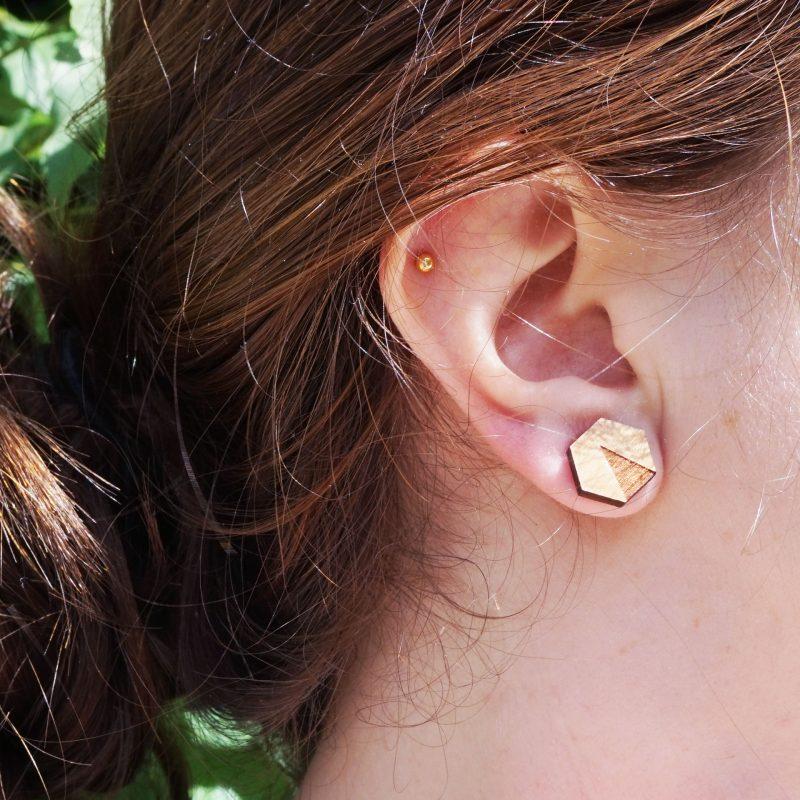 boucles d'oreilles en bois Martho bijoux en bois Martho