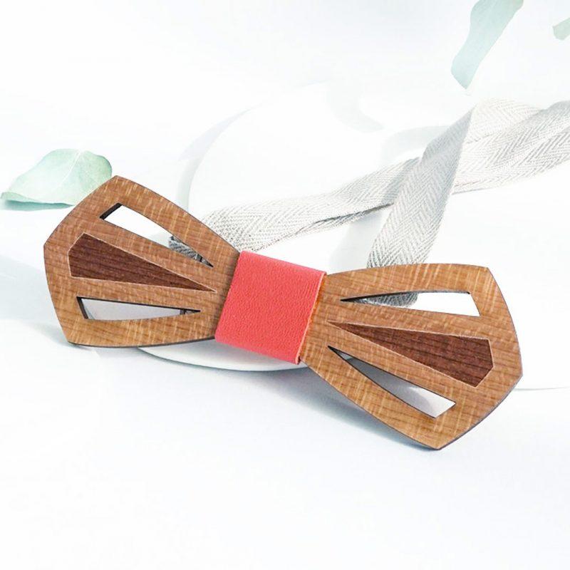 nœud papillon en bois pour mariage romantique MARTHO l'intemporel