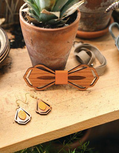 boucles d'oreilles en bois martho