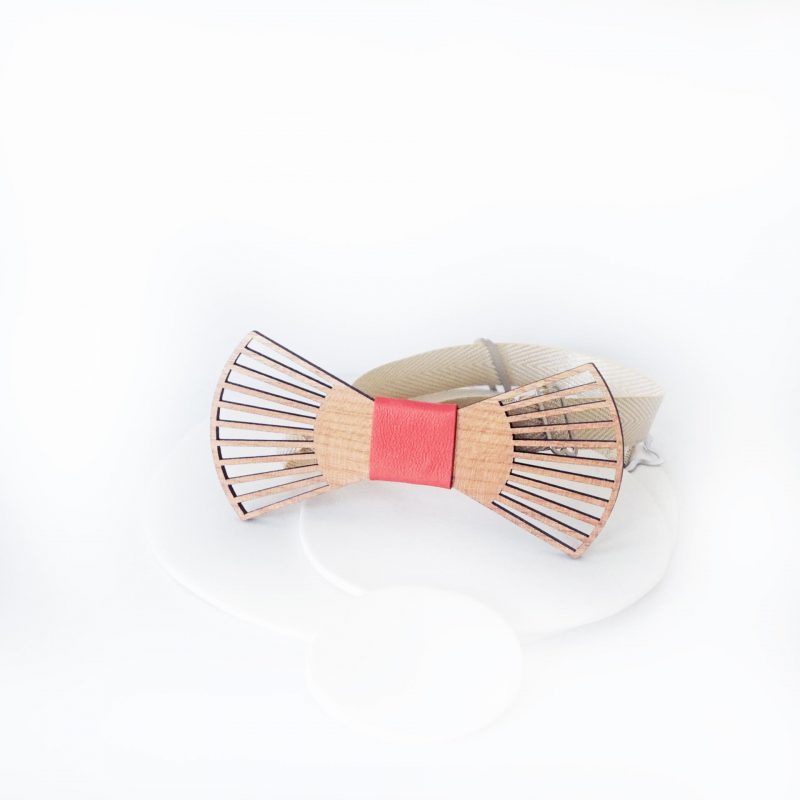 nœud papillon en bois de cerisier découpé au laser idéal pour un mariage MERVEILLEUX MARTHO