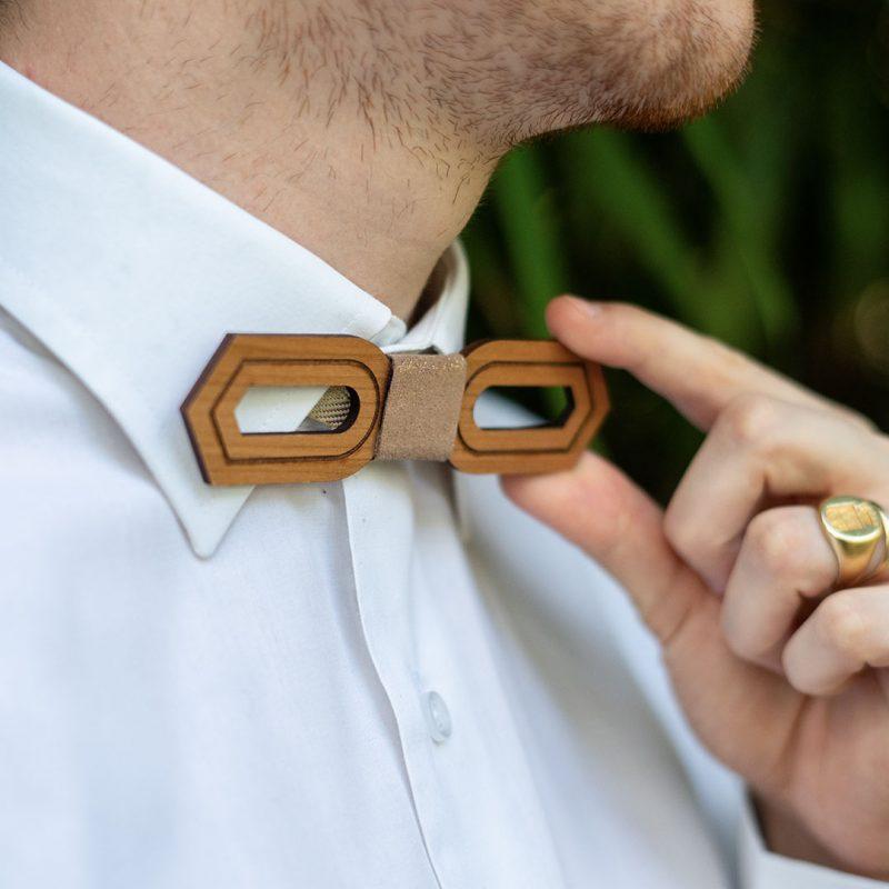 nœud papillon en bois personnalisable accessoire de mariage homme MARTHO