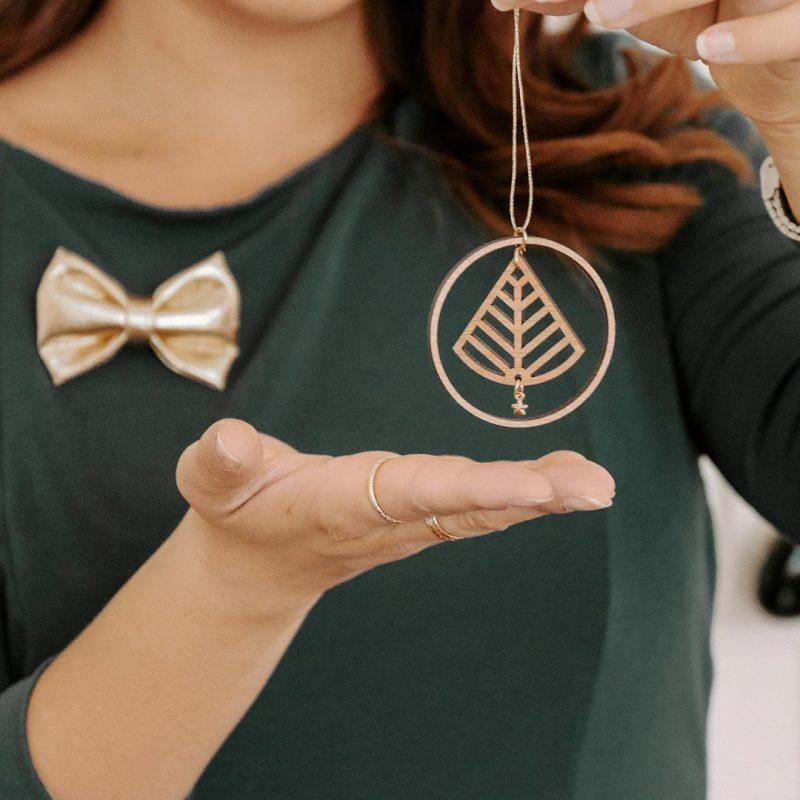 suncatcher en bois bijoux de mur bijoux de plante amulette sapinette MARTHO