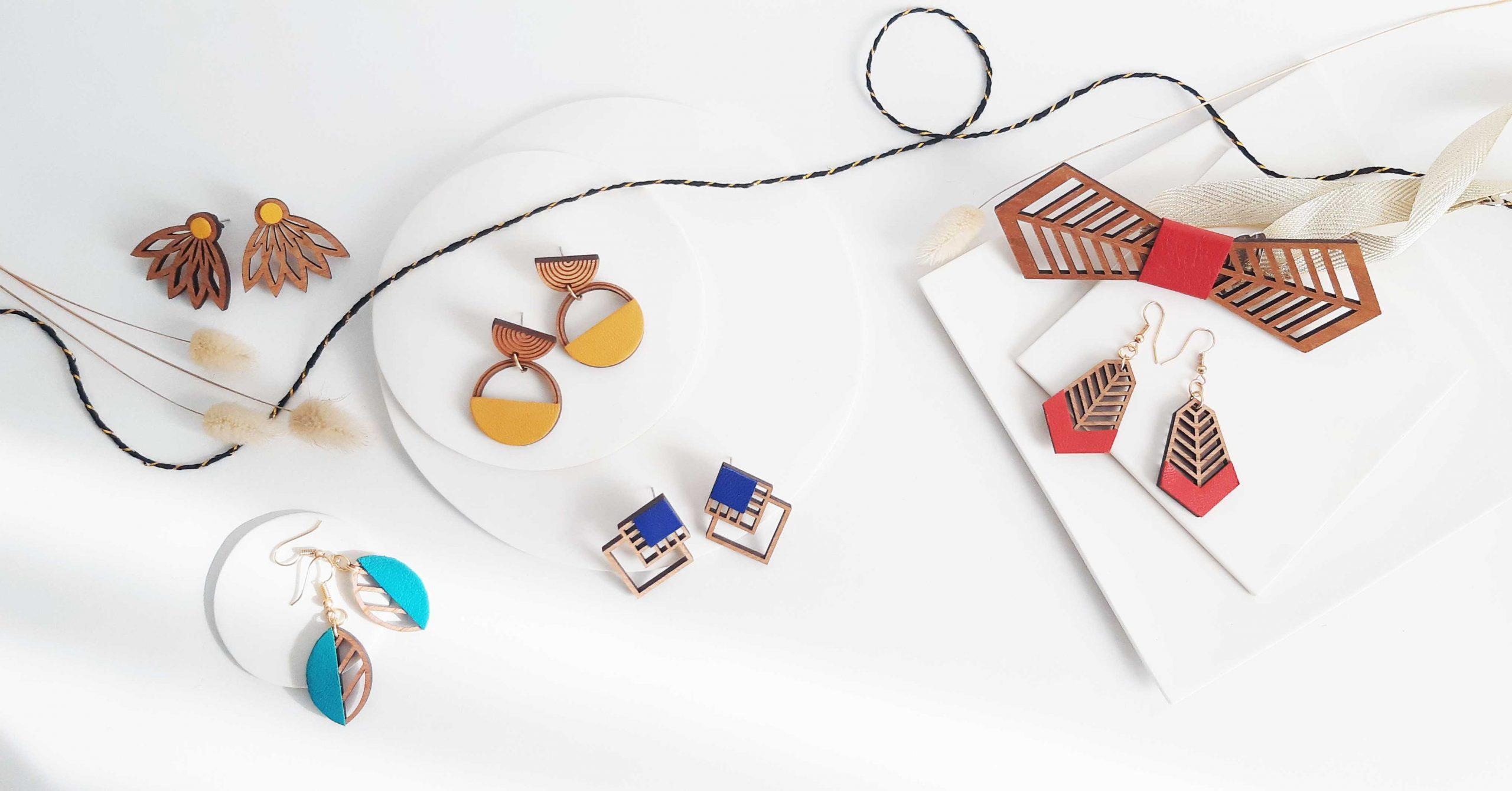 Bijoux en bois Martho et accessoires
